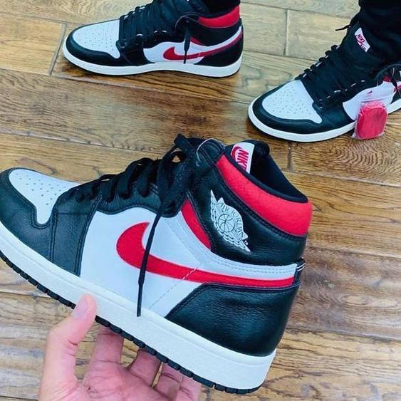 Image of Nike AIR Jordan AJ1 skateboard shoes high top couple shoes student sports casual shoes