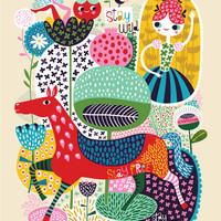Stay Wild... - limited edition giclee print of an original illustration (8 x 10 in)