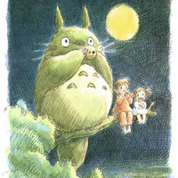 My Neighbor Totoro Moonlight Perch Poster 11x17