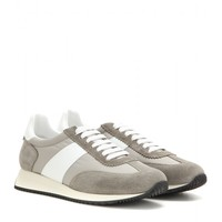 Suede and fabric sneakers