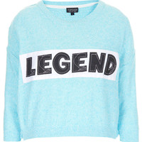 Knitted Legend Crop Sweat - Tops - Clothing - Topshop