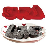"""DCI Silicone Word Cake Pan - """"LOVE"""""""
