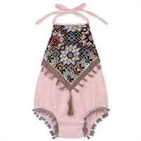 Tassels Backless Cute Jumpsuit Outfits Sunsuit Clothes