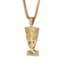 Iced Out Queen Nefertiti Pendant
