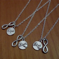 3 infinity Pinky Promise Necklaces, 3 best friends necklaces, 3 sisters necklaces, silver necklaces, Christmas Gift