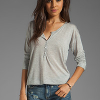 Feel the Piece Roll Up Henley in Light Heather Grey from REVOLVEclothing.com