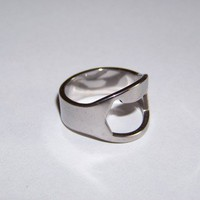 Beer Bottle Opener Ring by The Weird and Wonderful Store