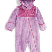 The North Face 'Oso' Hooded Fleece Romper (Baby Girls)   Nordstrom