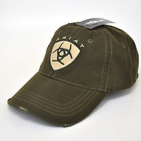 Ariat Embroidered Shield Logo Green Cap
