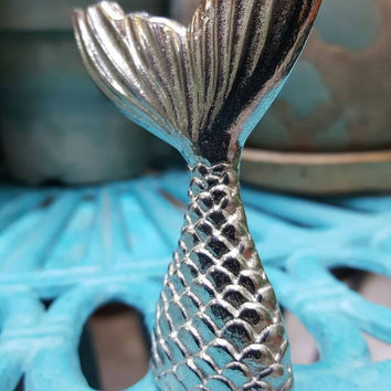Mermaid  tail sculpture , Ocean Siren tail,  Siren of the Sea tail, I am a Mermaid, Pewter mermaid tail Sculpture, Mermaid lover, Mermaid