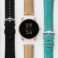 Gen 2 Smartwatch - Q Wander Light Brown Leather