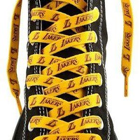 """Los Angeles Lakers Pair of 54"""" Shoe Laces"""
