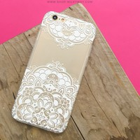 Lola Floral Henna Paisley - Clear TPU Case Cover