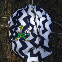Notre Dame Fighting Irish Inspired Chevron Infinity Scarf