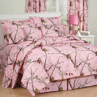 Realtree AP Pink Camo Bedding Comforter Set