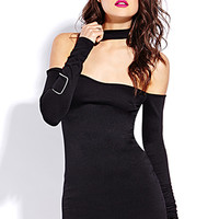 FOREVER 21 Sophisticated Bodycon Dress Black Small