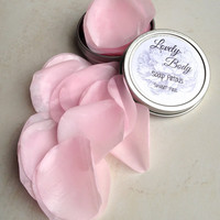 Sweet Pea Pink Travel Soap Petals (Organic) Dissolving Single Use Soap