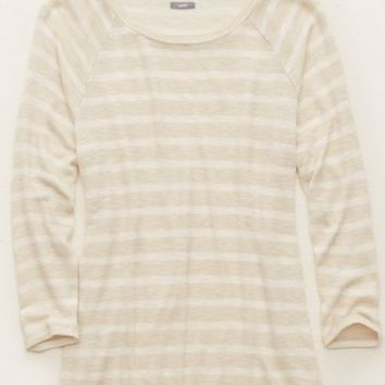 Aerie Women's Raglan Knit T-shirt