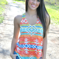 Here Comes the Sun Aztec Tank Top