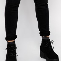 ASOS RADCLIFF Lace Up Ankle Wedge Ankle Boots