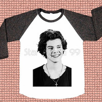 Harry Style TShirt 1D TShirt One Direction TShirt Rock TShirt Long Sleeve Tee Shirt Women TShirt Unisex TShirt Baseball Tee Shirt Size S,M,L