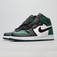 Nike Air Jordan AJ1 comfortable cushioning wear-resistant casual shoes