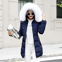 Women Winter  Long Puffer Jacket