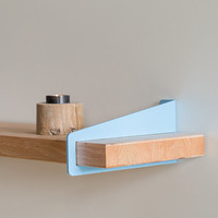 2 x 10 Wall Stirrup Shelf Brackets - Powder Coated (brackets only, shelf not included)