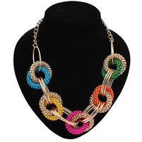 Multicolor Metal Chainemaille Necklace