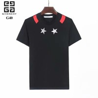 Givenchy 2018SS Spring and Summer Classic, advanced burning flower pattern Men's short sleeve T-shirt ღ 030
