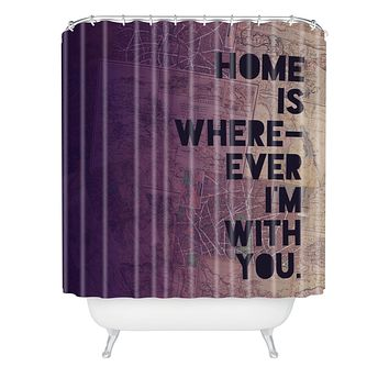 Leah Flores With You Shower Curtain