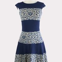 Bastille Dress in Parlour Ink