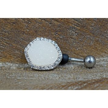 Druzy Belly Button Ring