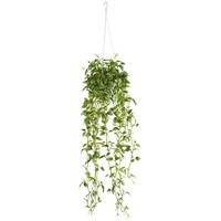 Artificial Plant -Green Variegated Wandering Jew Hanging Basket Silk Plant