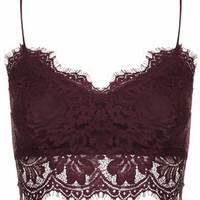 PETITE Lace Bralet - Mulberry