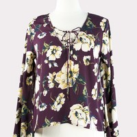 Maroon Floral Blouse