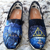 Made to Order Hand Painted TOMS Classic Canvas by TheMermaidsChest