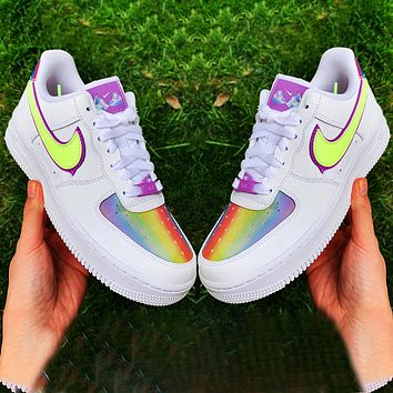 Onewel Nike Air Force 1 Low Easter Egg colorful Reflective Breathable Suspension Sneakers