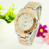 TOUS Hot Vintage Fashion Classic Watch Round Ladies Women Men wristwatch On Sales(With Thanksgiving&Christmas Gift) Gold I-Fushida-8899