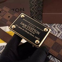 LOUIS VUITTON X Monogram BROWN belt SPAIN SUPREME Men's LV Initiales Tagre™