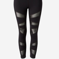 EXP Core Mesh Inset Compression Crop Legging from EXPRESS