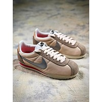 Nike Classic Cortez Gold Silver Sport Running Shoes