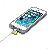 The White and Gray LifeProof FRE Case for the iPhone 5 or 5s