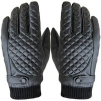 Winter Gloves Men Thermal Winter Motorcycle Sports Leather Screen Gloves Big Size Thicken Affordable#036
