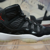 AIR JORDAN XI 11 RETRO 72-10 BRED MENS BASKETBALL SHOES  378037 002