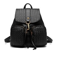 Quilted Mini Faux Leather Backpack