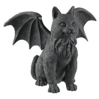 Winged Cat Gargoyle Statue Figurine Myth Fantasy