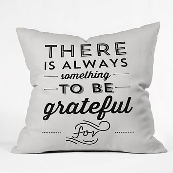 Allyson Johnson Something To Be Grateful For Outdoor Throw Pillow