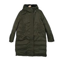 Ribbed Winter Hooded Long Insulated Coat