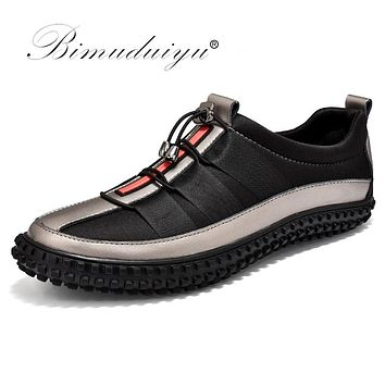 Luxury Casual Shoes For Men Autumn Fashion Light Breathable Male Shoes Men Leather Sneakers Flat Shoes